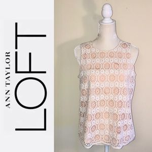 Ann Taylor Loft floral embroidered top